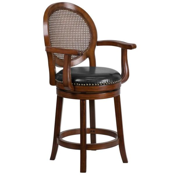 Flash Furniture 24 in. Counter Height Expresso Bar Stool CGA-TA-184954-EX-HD