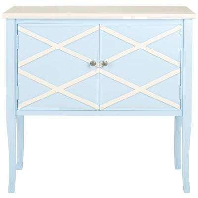 Winona Light Blue and White Buffet with Storage