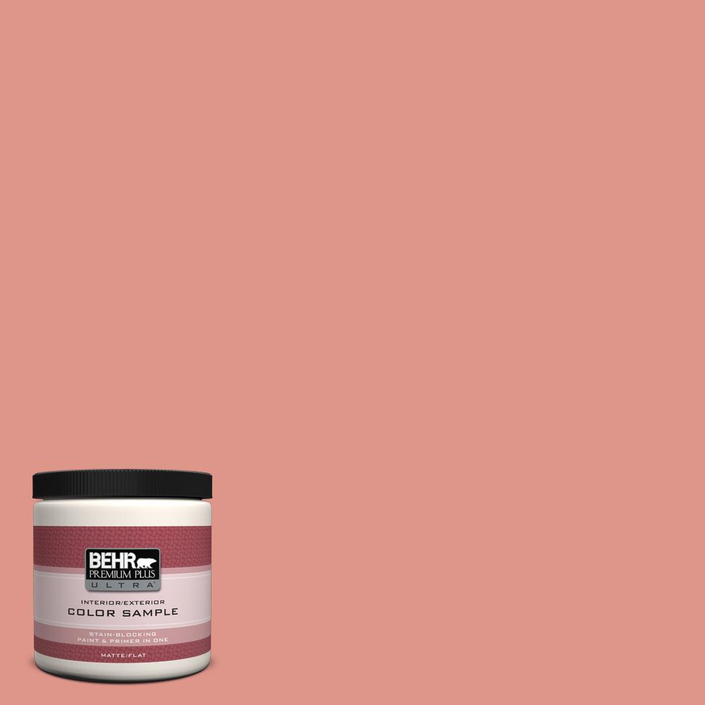 BEHR Premium Plus Ultra 8 oz. #BIC-18 Fresh Watermelon Interior/Exterior Paint Sample