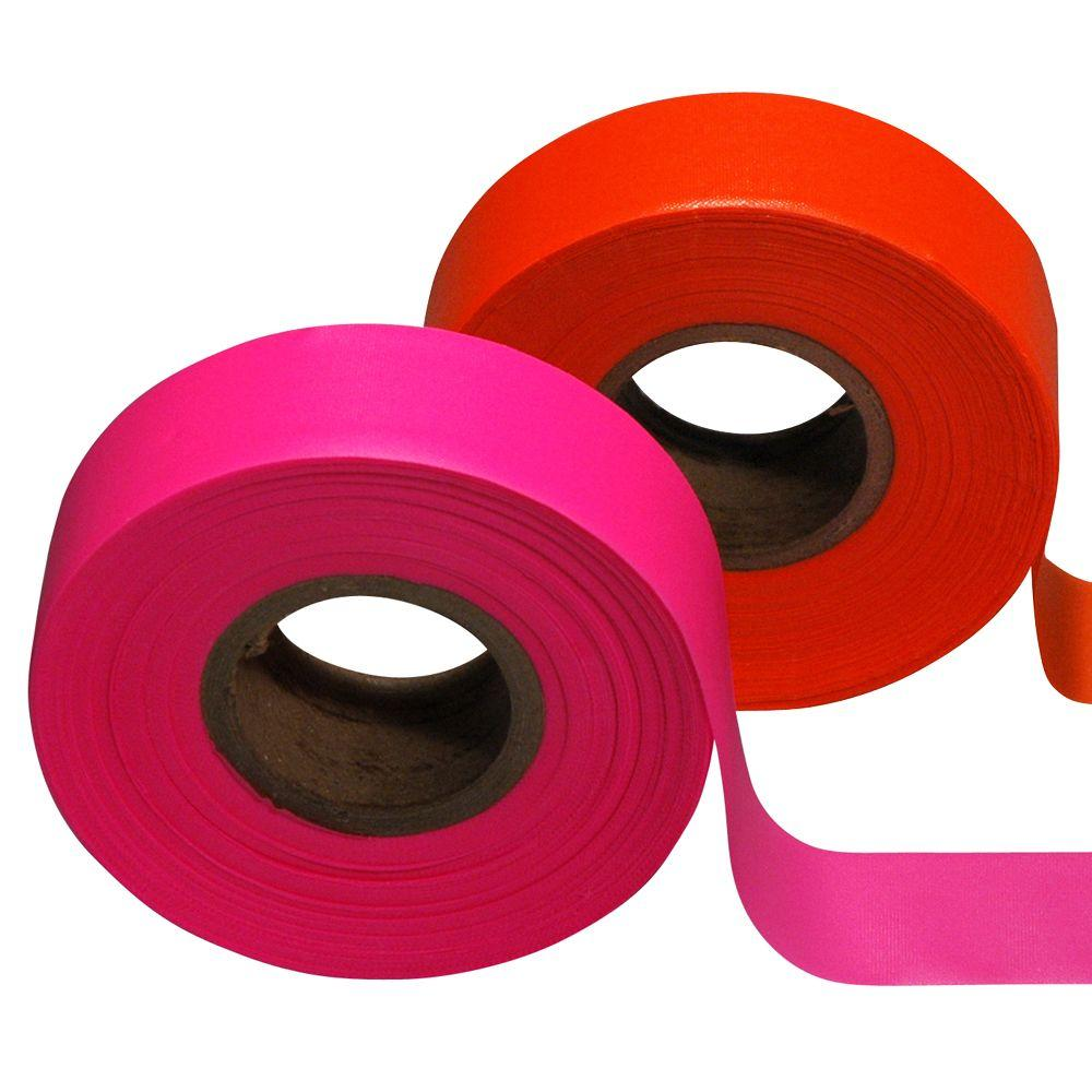 Safety Flag 1-3/16 in. x 150 ft. Flagging Tape (12-Pack)