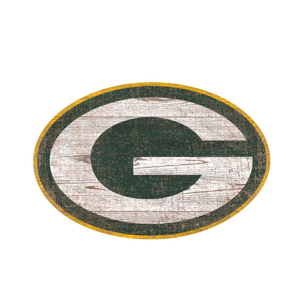 Adventure Furniture Nfl Indoor Green Bay Packers Distressed Logo