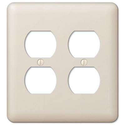 Devon 2 Duplex Wall Plate - Almond