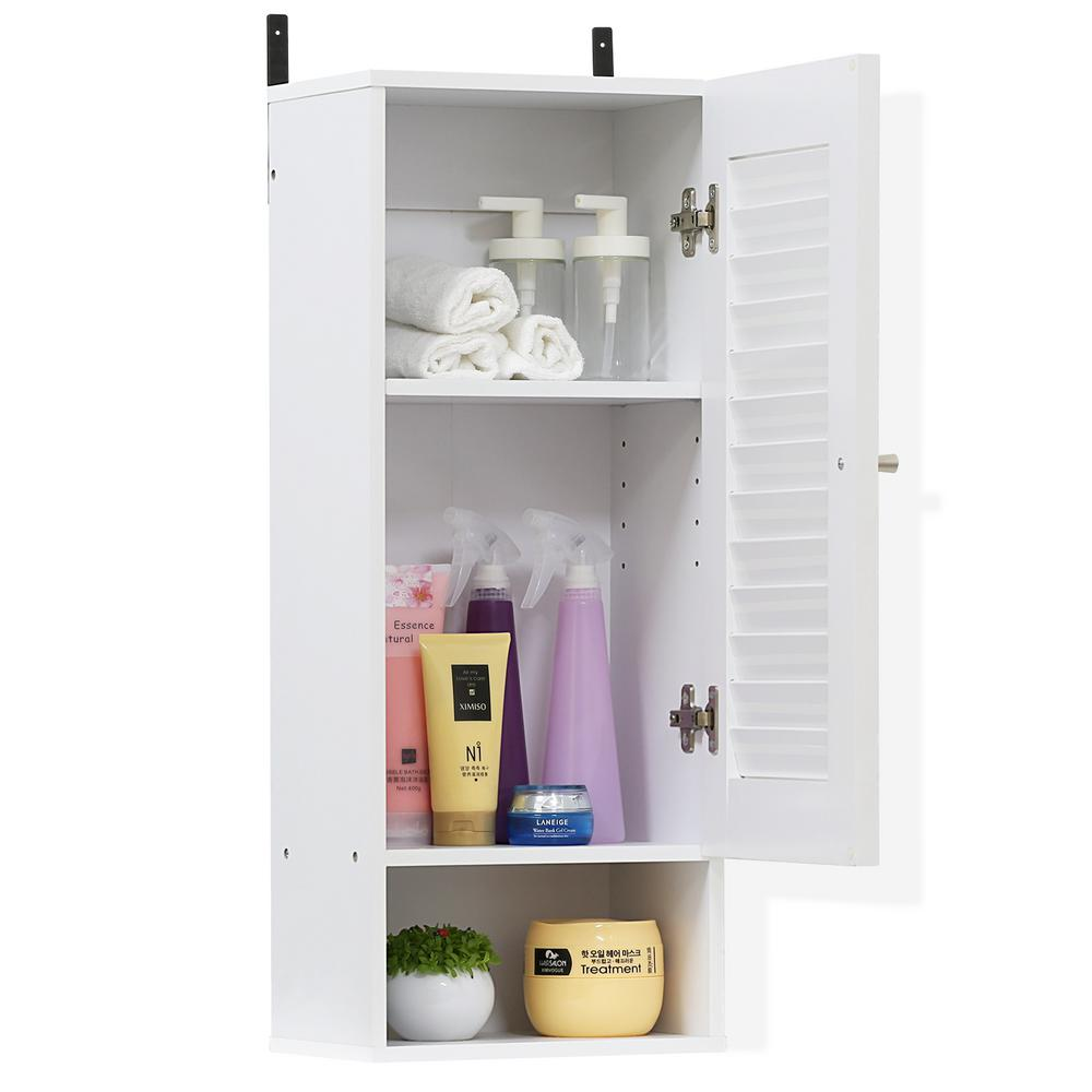 Furinno Indo White Slim Wall Cabinet-16069WH - The Home Depot