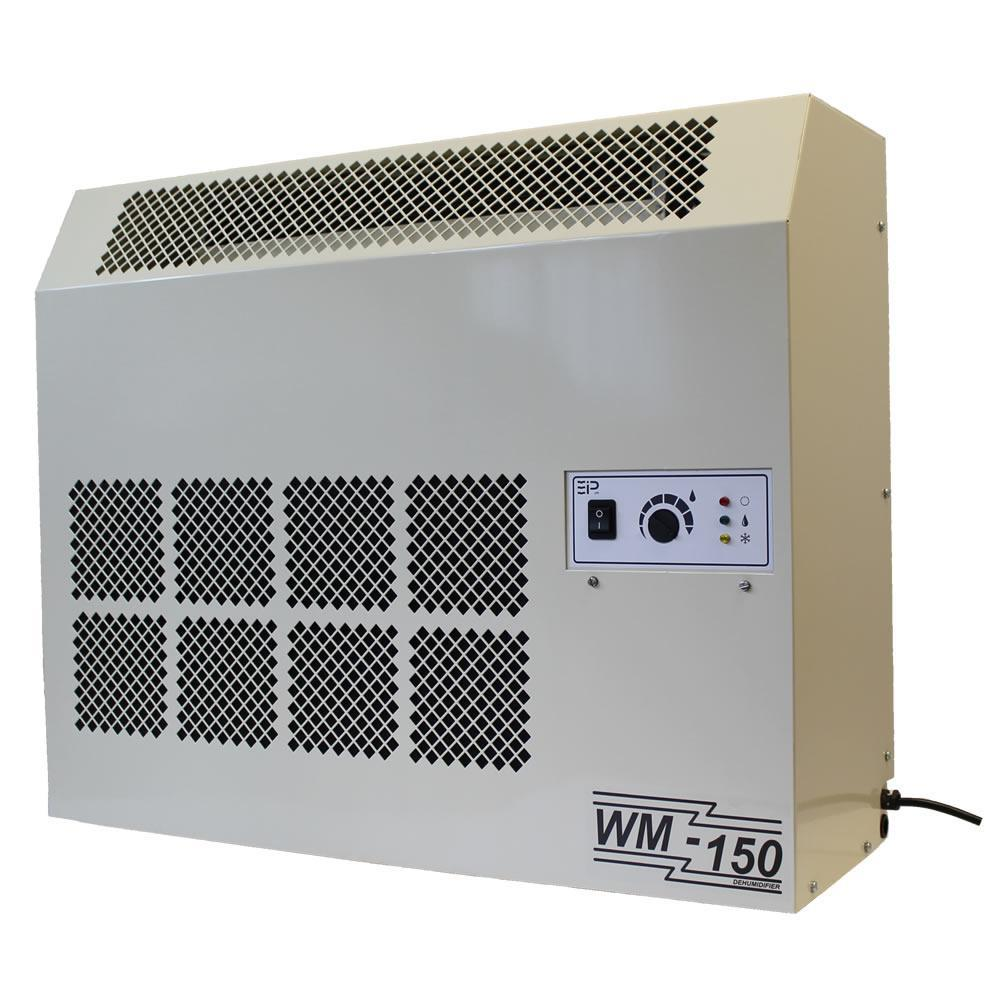 Ebac WM150 71-Pint Bucketless Dehumidifier with Internal Condensate Pump, Beige/Ivory The WM150 dehumidifier is an ideal solution for humidity control in a wide variety of applications including offices, apartments, stores, restaurants, bars, salons, museums, storerooms, computer and telecommunication rooms, garages, cellars and basements. It's also great for spa rooms in homes or hotels. The WM150 may be used as a standalone dehumidifier or may be wall mounted to save space. It comes complete with all hardware required for wall mounting. For ease of installation and operation, the drain line may be set up to drain from either end of the WM150. The integral condensate pump allows the water collected to be pumped to a drain or sink without having to worry about a gravity feed. Ebac Industrial Products unique reverse cycle defrost system allows for operation at low ambient temperatures, making the WM150 an excellent choice for cool basements and other residential applications. Whatever your drying requirements, Ebac Industrial Products dehumidifiers have the answer. Color: Beige / Cream.