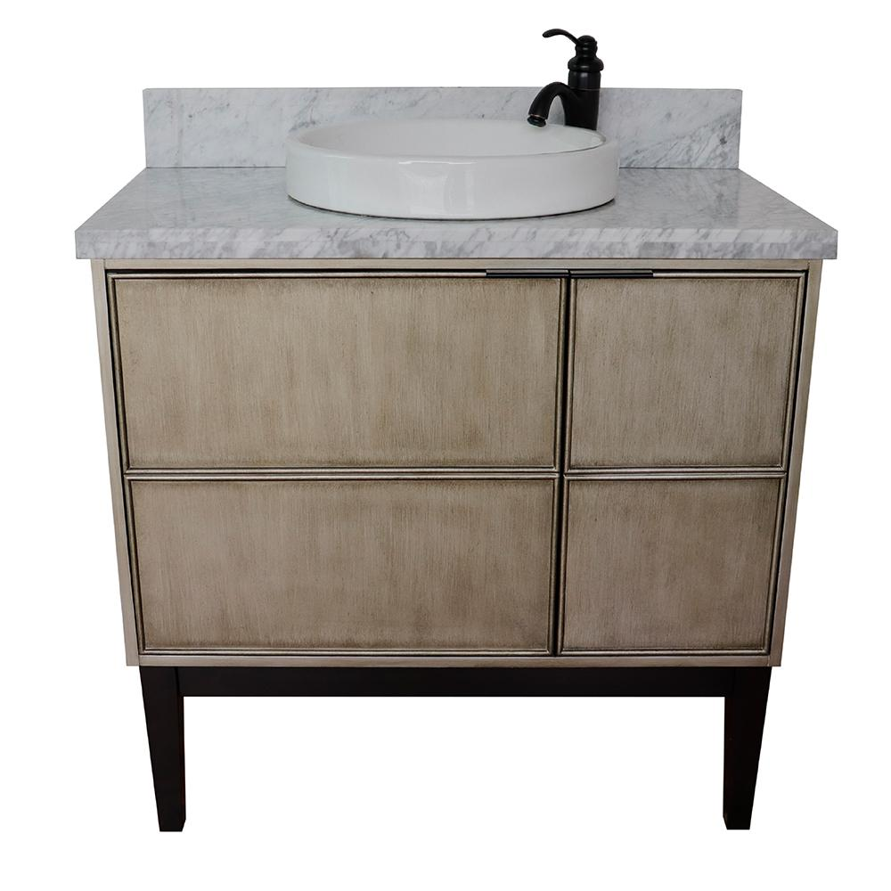 bellaterra home scandi 37 in w x 22 in d bath vanity in brown with rh homedepot com round bathroom vanity sinks round bathroom vanity tray