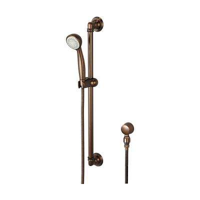 5-Spray 3.4 in. Single Tub Wall Mount  Handheld Shower Head in Oil Rubbed Bronze