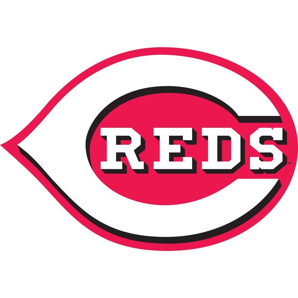 Fathead 45 in. x 31 in. Cincinnati Reds Logo Wall Decal