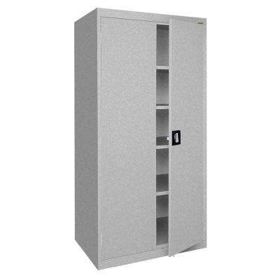 Elite Series 78 in. H x 36 in. W x 24 in. D 5-Shelf Steel Recessed Handle Storage Cabinet in Multi Granite