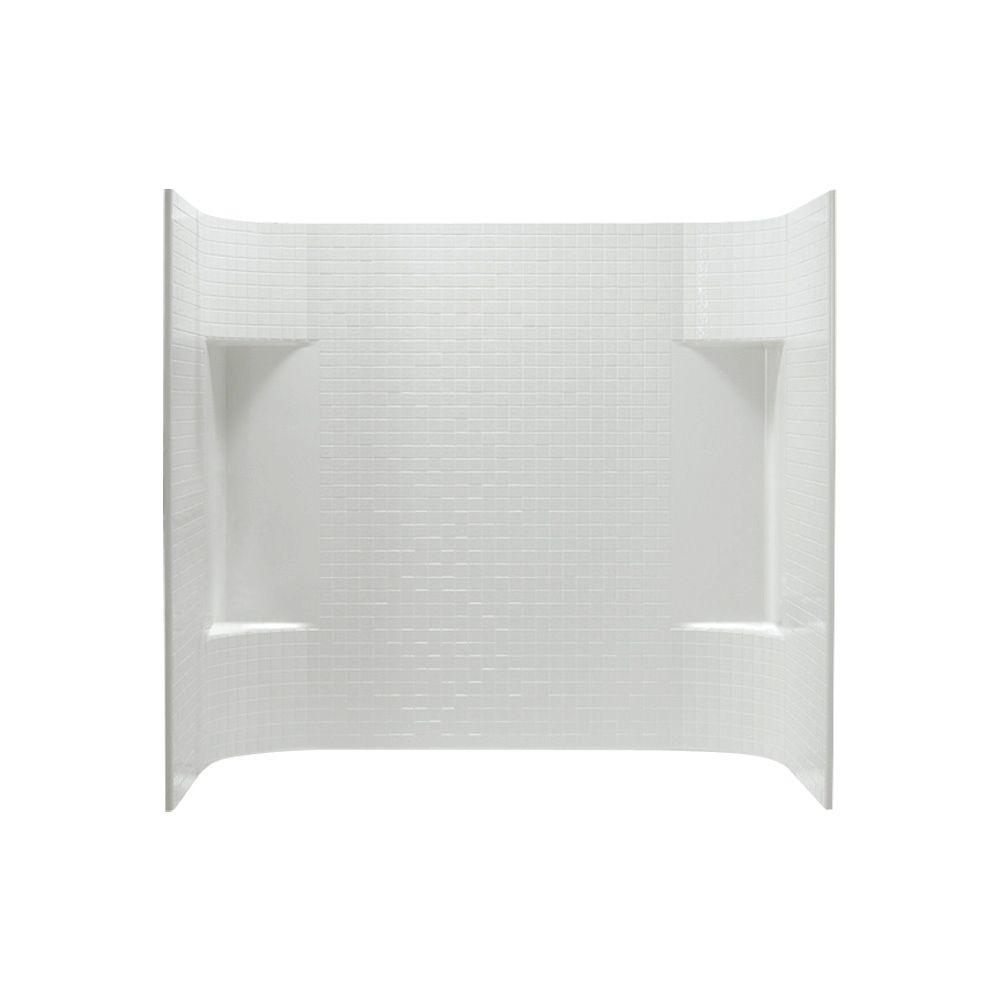 STERLING Accord 31.25 in. x 60 in. x 56.25 in. 3-piece Direct-to-Stud Tub Wall Set in White