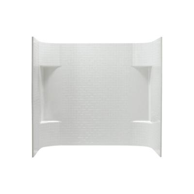 Accord 31.25 in. x 60 in. x 56.25 in. 3-piece Direct-to-Stud Tub Wall Set in White