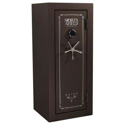 Haven Series 24-Gun Fire/Waterproof Elock Gun Safe, Dark Earth Matte