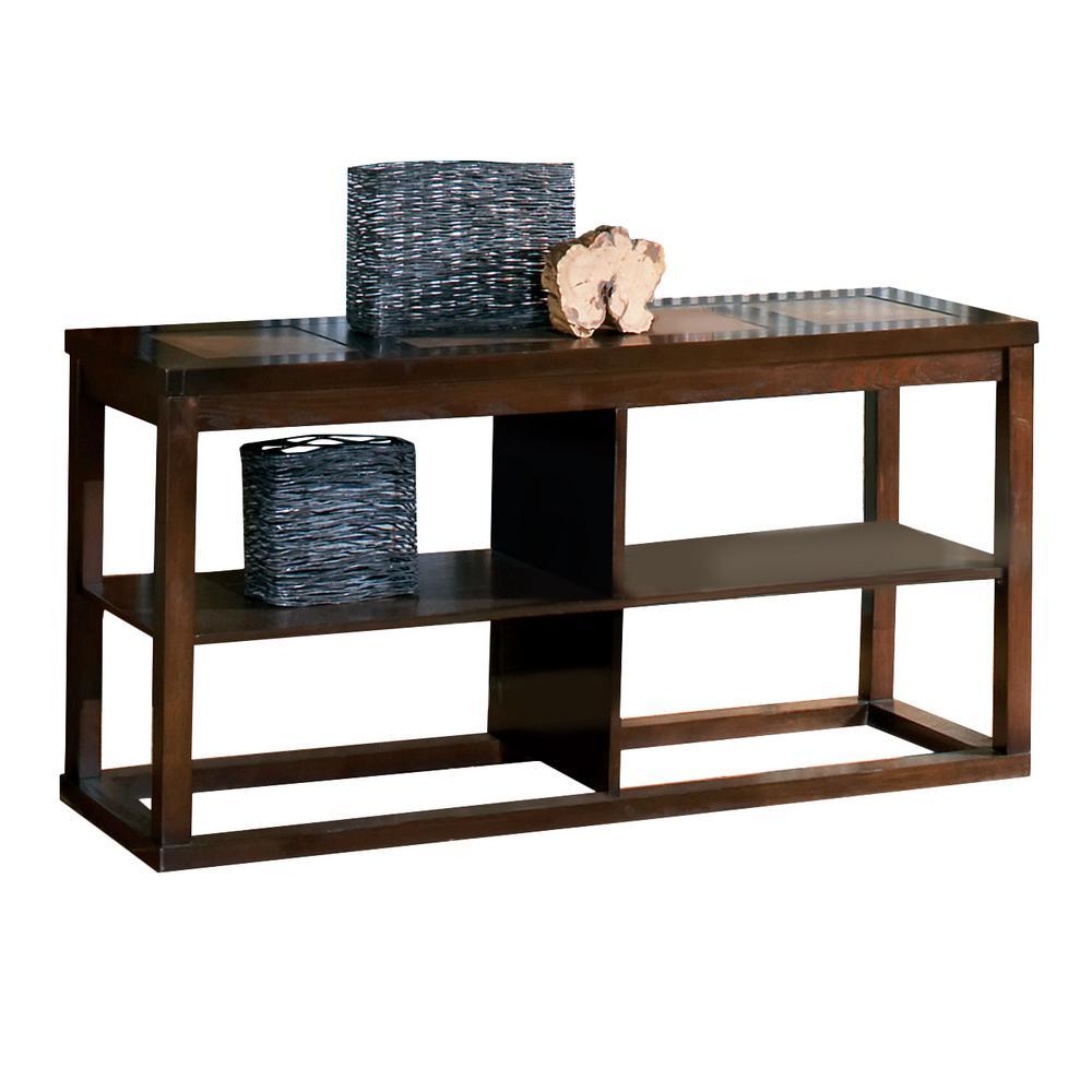 Alberto Brown Oak Sofa Table