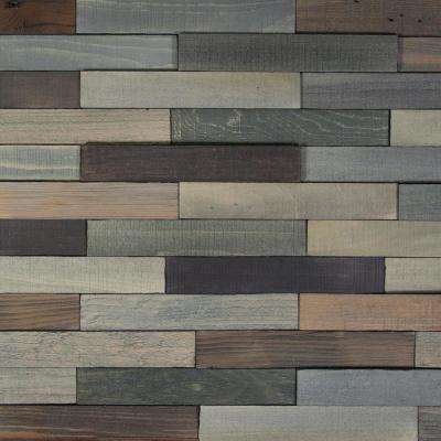 Take Home Sample - Deco Planks Old Forest Pewter Solid Wall Planks Hardwood Flooring - 5 in. x 7 in.