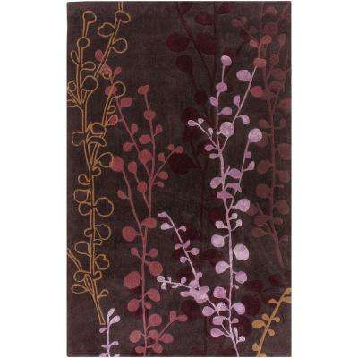 Gardena Plum 8 ft. x 11 ft. Area Rug