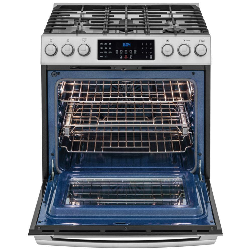 Electrolux Iq Touch 4 5 Cu Ft Gas Range With Front Controls