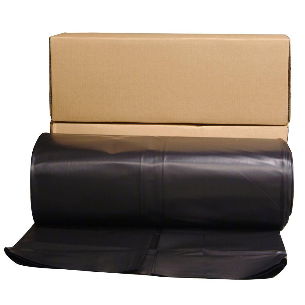 x6Ml,Black POLAR PLASTICS B66 Poly Sheeting,6ft.x100ft