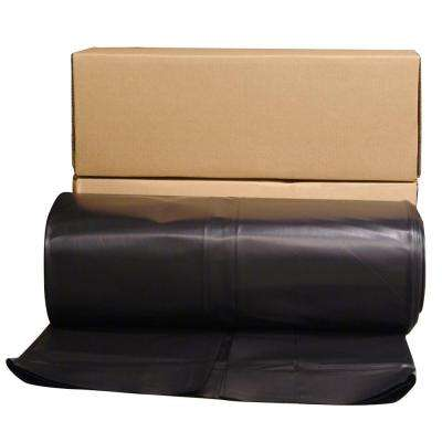 24 ft. x 100 ft. Black 6 mil Plastic Sheeting