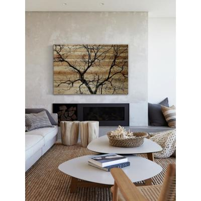 """30 in. H x 45 in. W """"Branching Out III"""" by Parvez Taj Printed Natural Pine Wood Wall Art"""