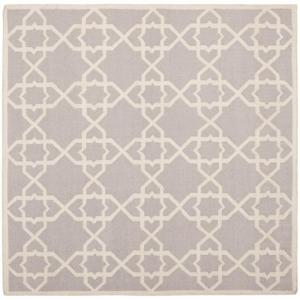 Safavieh Dhurries Grey Ivory 8 Ft X Square Area Rug Dhu548g 8sq The Home Depot