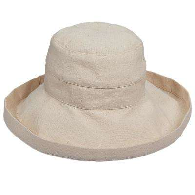 Cotton Big Brim with Inner Drawstring