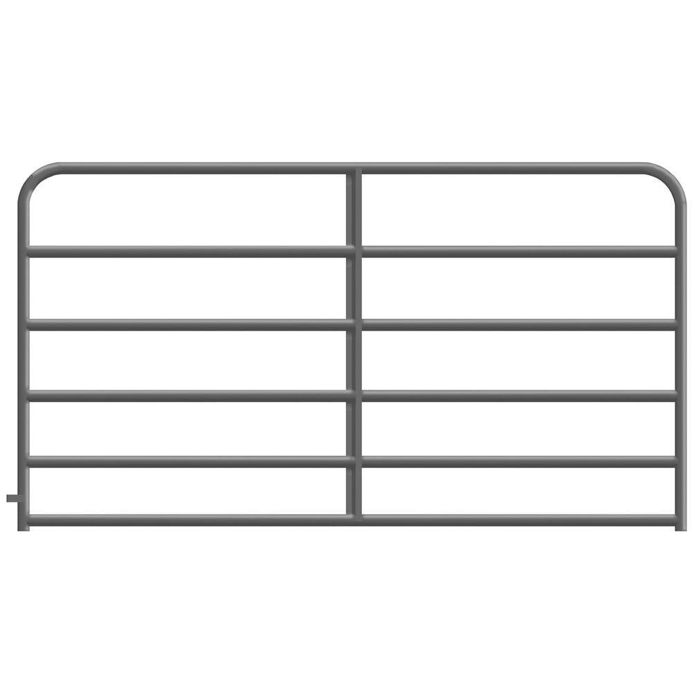 12 ft. x 4 ft. 2 in. 6-Rail Gray Powder-Coated Tube