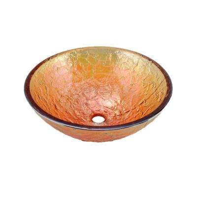 17 in. Vessel Sink in Gold Reflections