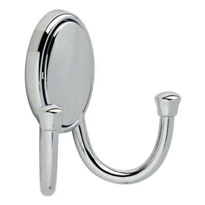 Atticus 2-7/9 in. Chrome Double Wall Hook with Concealed Fasteners