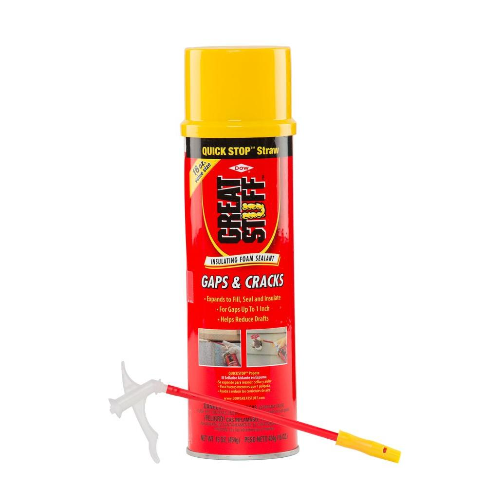 eb6b68514b60d 16 oz. Gaps and Cracks Insulating Foam Sealant with Quick Stop Straw