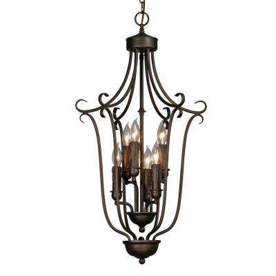 Maddox Collection 6-Light Bronze 3-Tier Chandelier