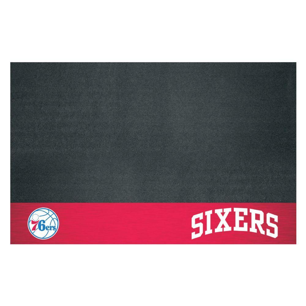 FANMATS NBA Philadelphia 76ers 26 in. x 42 in. Grill Mat