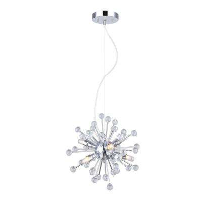 Clancy 6-Light Chrome Chandelier with Crystal