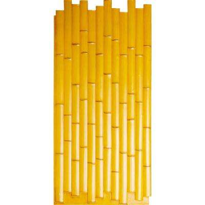 5/8 in. x 24-3/8 in. x 53-7/8 in. Golden Urethane Bamboo Slat Wall Panel