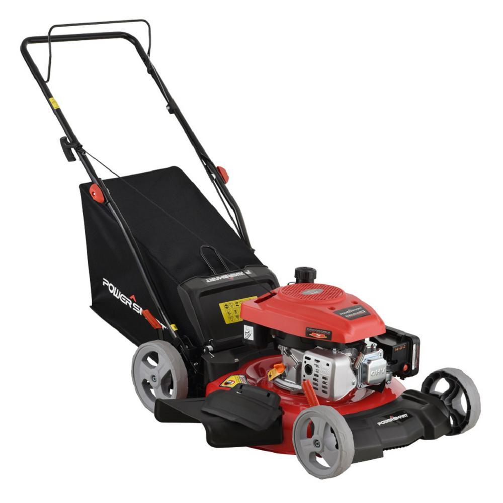 PowerSmart 21 in  3-in-1 161cc Gas Walk Behind Push Mower