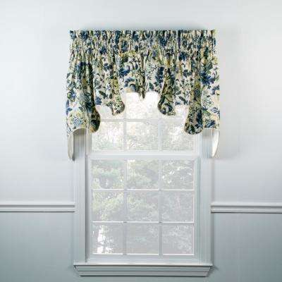 Regency 30 in. L Cotton Lined Duchess Valance in Blue