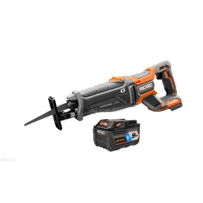 RIDGID 18-Volt OCTANE Cordless Brushless Reciprocating Saw with OCTANE Lithium-Ion 9 Ah Battery (Charger Not Included)