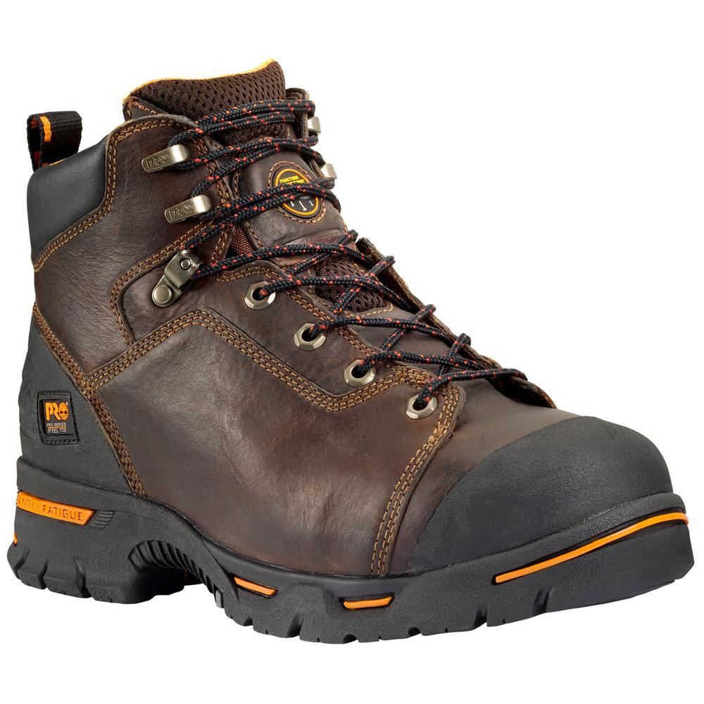 Timberland PRO Men's Endurance 6'' Work Boots Steel Toe Briar Size 11(M)
