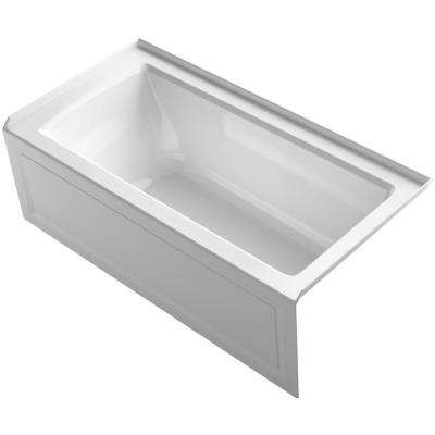 Archer 5 ft. Right Drain Soaking Tub in White with ExoCrylic