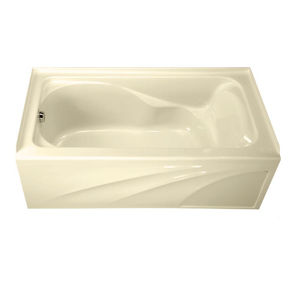 American Standard Cadet 5 ft. Acrylic Left-Hand Drain Bathtub in Bone