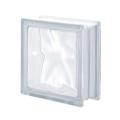 Pegasus Neutro Q19 7.48 in. x 7.48 in. x 3.15 in. Wavy Pattern Glass Block (5-Pack)