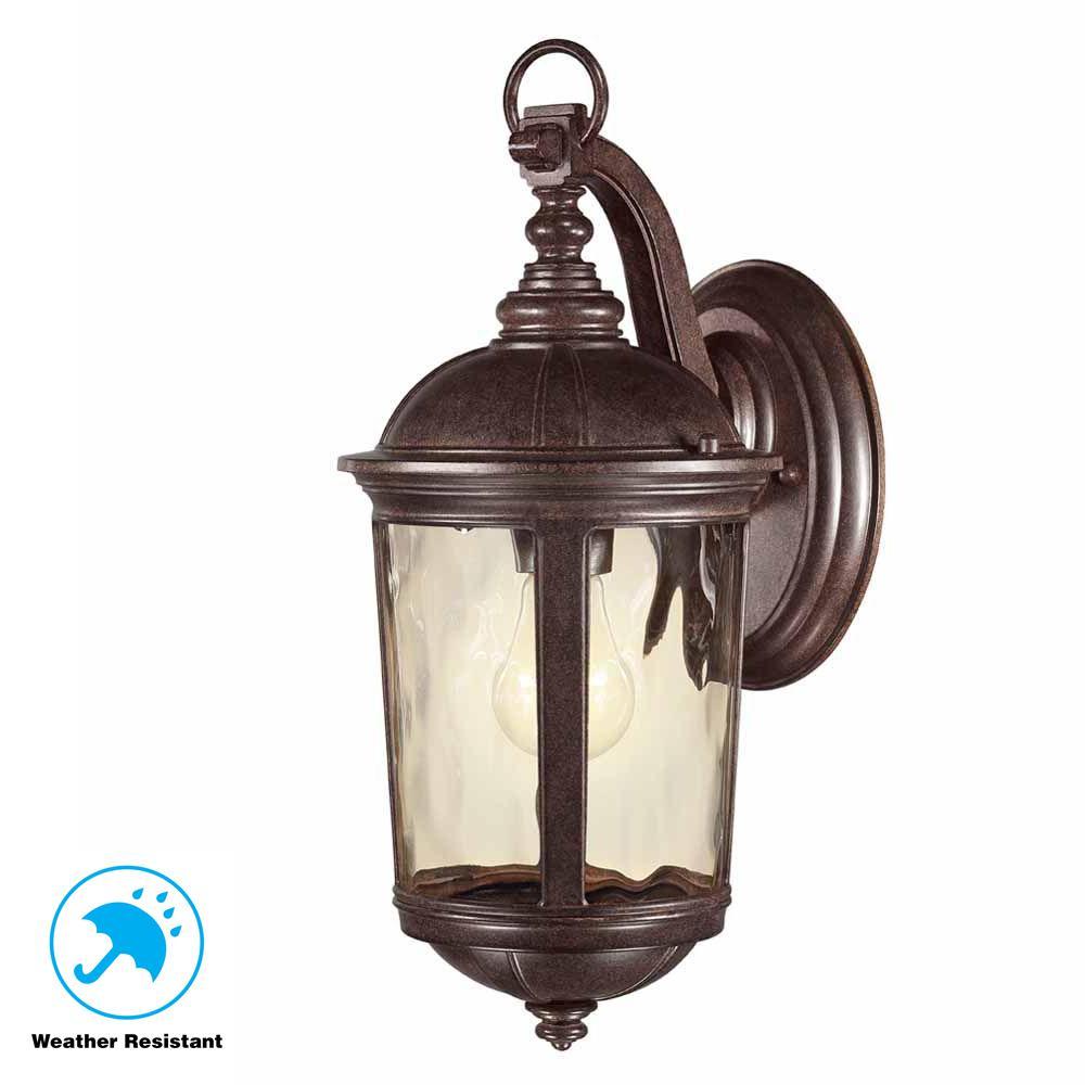 Leeds Mystic Bronze Outdoor Wall Lantern