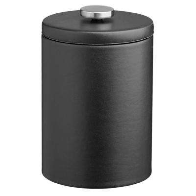Contempo 2 Qt. Black Tall Ice Bucket with Thick Vinyl Lid