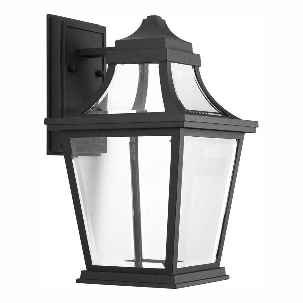 Progress Lighting Endorse Collection 1-Light 14.75 in. Outdoor Black LED Wall Lantern Sconce