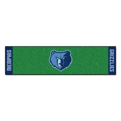 NBA Memphis Grizzlies 1 ft. 6 in. x 6 ft. Indoor 1-Hole Golf Practice Putting Green