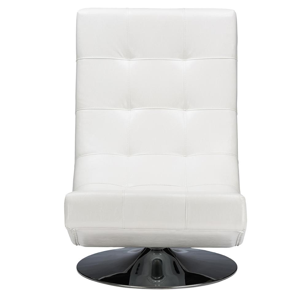 Baxton Studio Elsa Contemporary White Faux Leather Upholstered Accent Chair