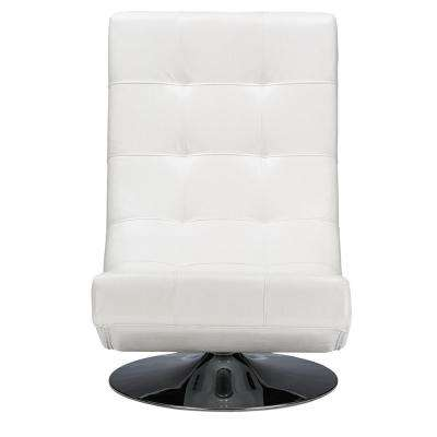 Elsa Contemporary White Faux Leather Upholstered Accent Chair