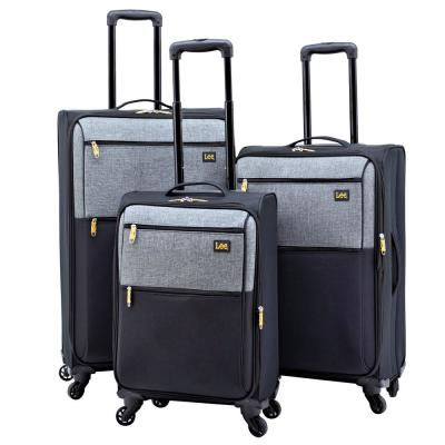 3-Piece Expandable Soft Side Verticals Set with Spinner Wheels