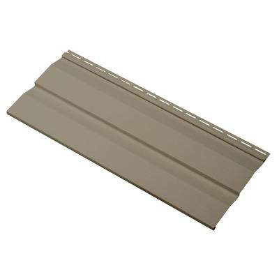 Transformations Double 4.5 in. x 24 in. Dutch Lap Vinyl Siding Sample in Khaki