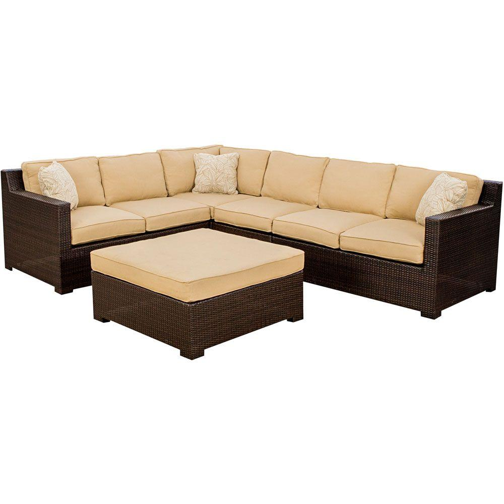 Metropolitan 5 Piece Patio Sectional ... Part 65