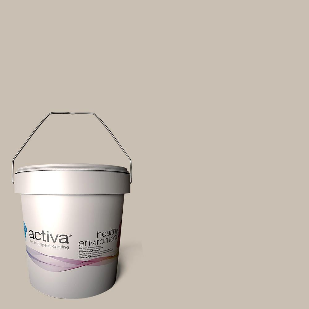 Activa 1 gal. Toledo Pewter Latex Premium Antimicrobial Anti-Mold Earth Friendly Self-Cleaning Photocatalytic Interior Paint