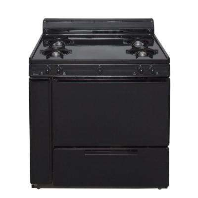 36 in. 3.91 cu. ft. Battery Spark Ignition Gas Range in Black